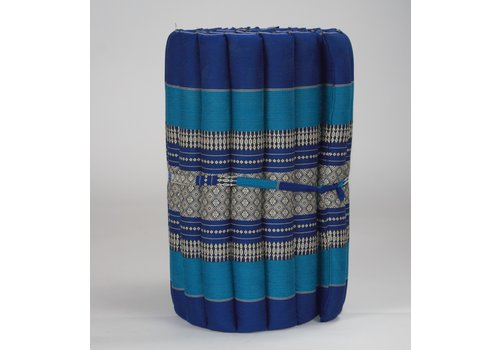Fine Asianliving Thai Mat Rollable Matress 190x50x4.5cm Ocean Blue