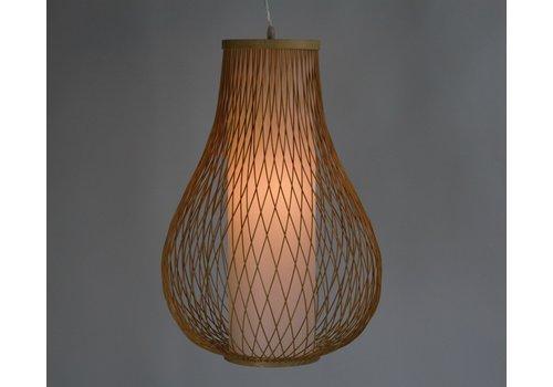 Fine Asianliving Ceiling Light Bamboo Lampshade Handmade - Amber