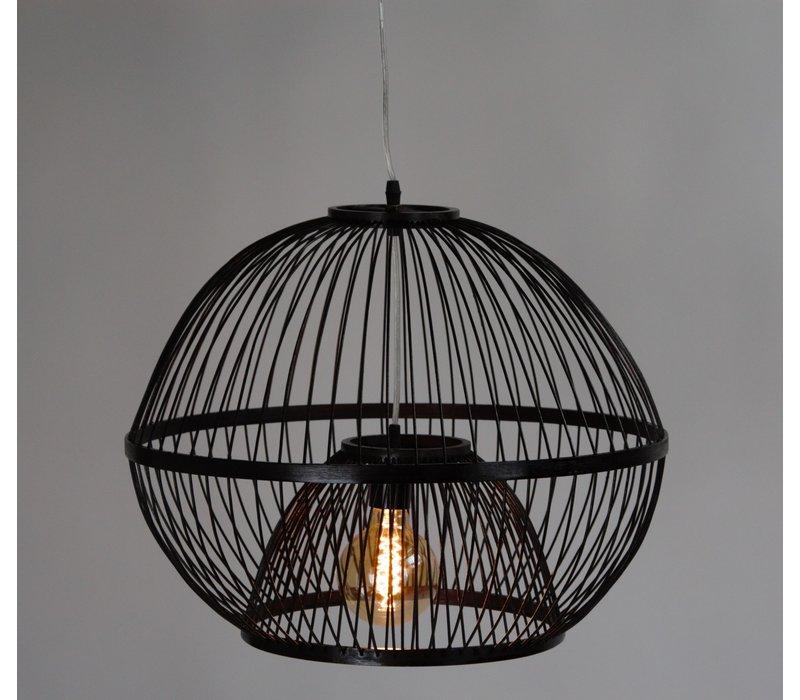 Bamboe Hanglamp Handgemaakt Zwart - Lucas