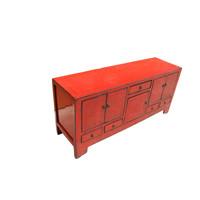 Antiker chinesischer Fernsehschrank Rot B138xT38xH62cm