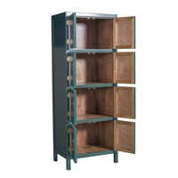 Chinese Cabinet Jade Teal Blue W67xD45xH180cm - Orientique Collection