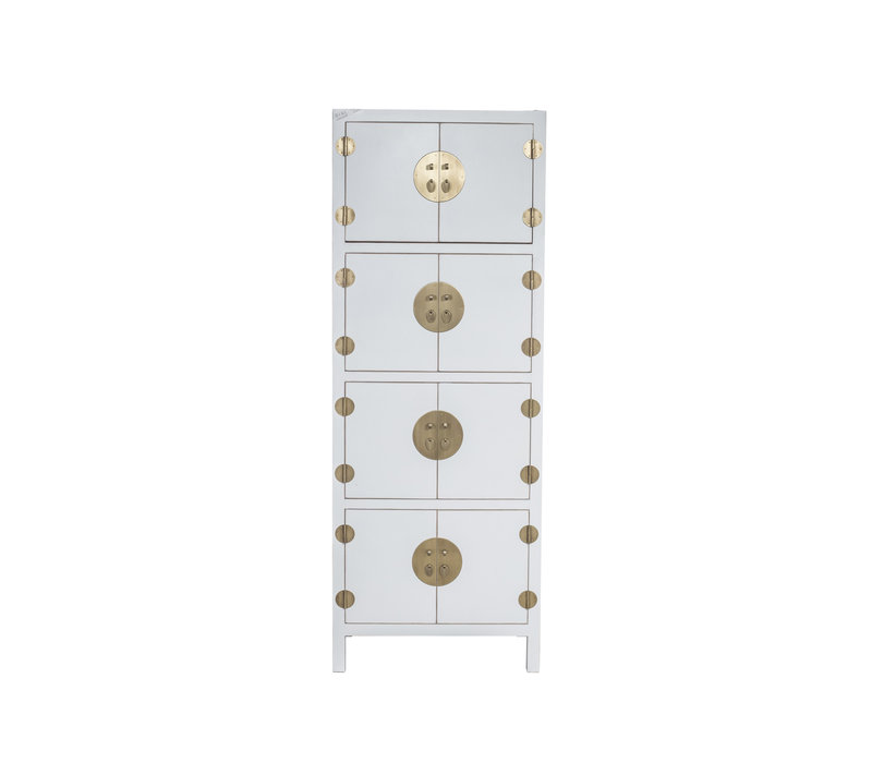 Chinese Kast Snow Wit B67xD45xH180cm - Orientique Collection