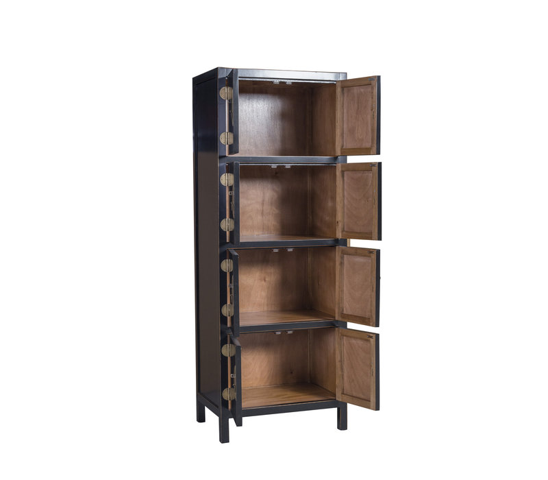 Chinese Cabinet Onyx Black W67xD45xH180cm - Orientique Collection