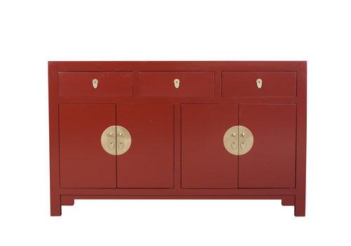 Fine Asianliving Aparador Chino Rojo Rubí - Colección Orientique Anch.140 x Prof.35 x Alt.85 cm