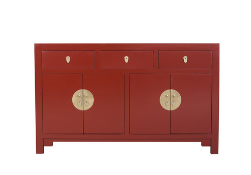 Fine Asianliving Buffet Chinois Rouge Rubis L140xP35xH85cm - Orientique Collection