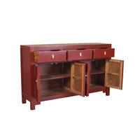 Buffet Chinois Rouge Rubis L140xP35xH85cm - Orientique Collection