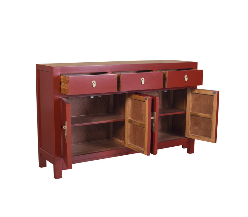 Chinese Sideboard Ruby Red W140xD35xH85cm - Orientique Collection