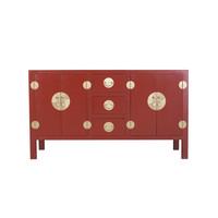 Aparador Chino Rojo Rubí - Colección Orientique A160xP50xA90cm