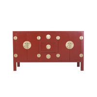 Buffet Chinois Rouge Rubis - Orientique Collection L160xP50xH90cm