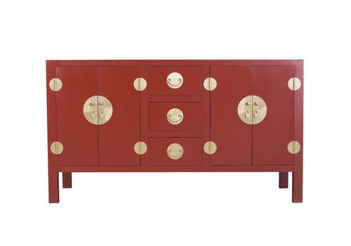 Fine Asianliving Chinese Dressoir Robijnrood - Orientique Collectie B160xD50xH90cm