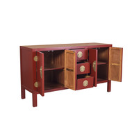 Chinese Sideboard Ruby Red W160xD50xH90cm - Orientique Collection