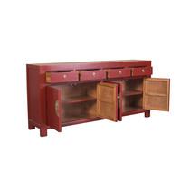 Chinese Dressoir Robijnrood - Orientique Collectie B180xD40xH85cm