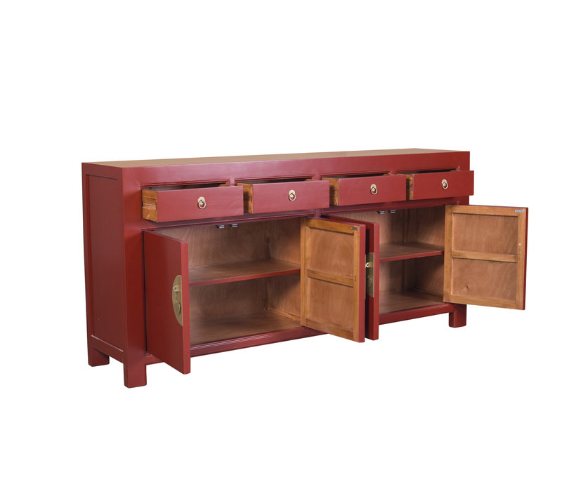 Chinese Sideboard Ruby Red W180xD40xH85cm - Orientique Collection