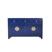 Chinese Sideboard Midnight Blue W140xD35xH85cm - Orientique Collection