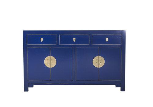 Fine Asianliving Buffet Chinois Bleu Nuit L140xP35xH85cm - Orientique Collection