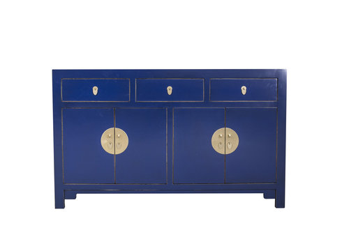 Fine Asianliving Chinese Sideboard Midnight Blue W140xD35xH85cm - Orientique Collection