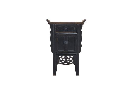 Fine Asianliving Table Console Chinoise Noir Fait Main L58xP35xH84cm