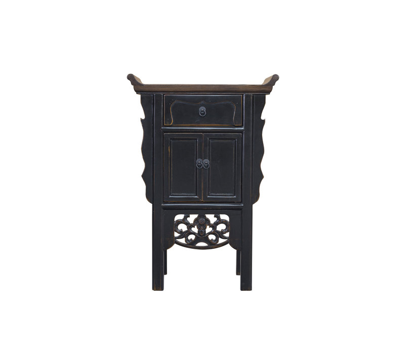 Chinese Console Table Vintage Black Handmade Carvings W58xD35xH84cm