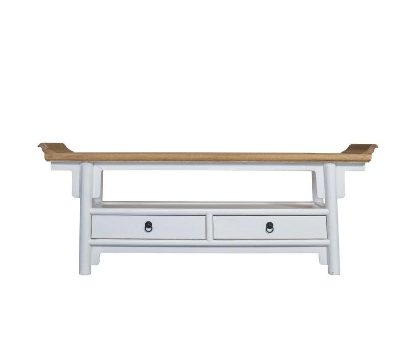 Chinese TV-meubel Wit - Qiaotou B140xD38xH55cm