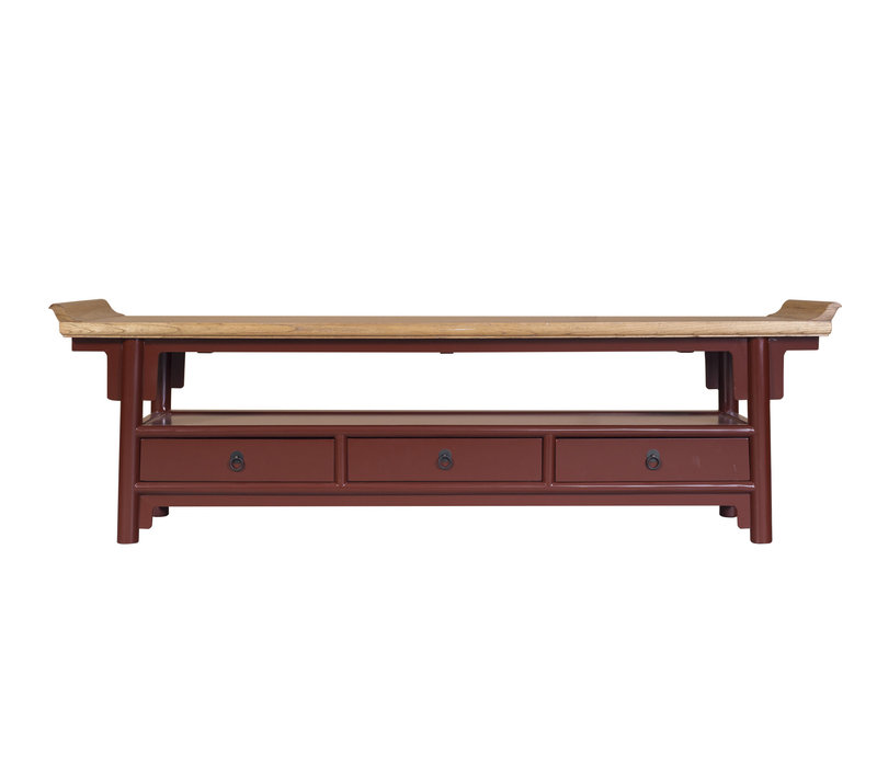 Chinese TV Kast Bordeaux Rood Qiaotou B180xD40xH55cm