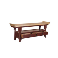 Chinese TV Stand Bench Burgundy Red Qiaotou W140xD38xH55cm