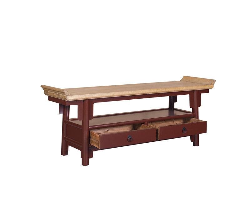 Chinese TV-meubel Bordeaux Rood Qiaotou B140xD38xH55cm