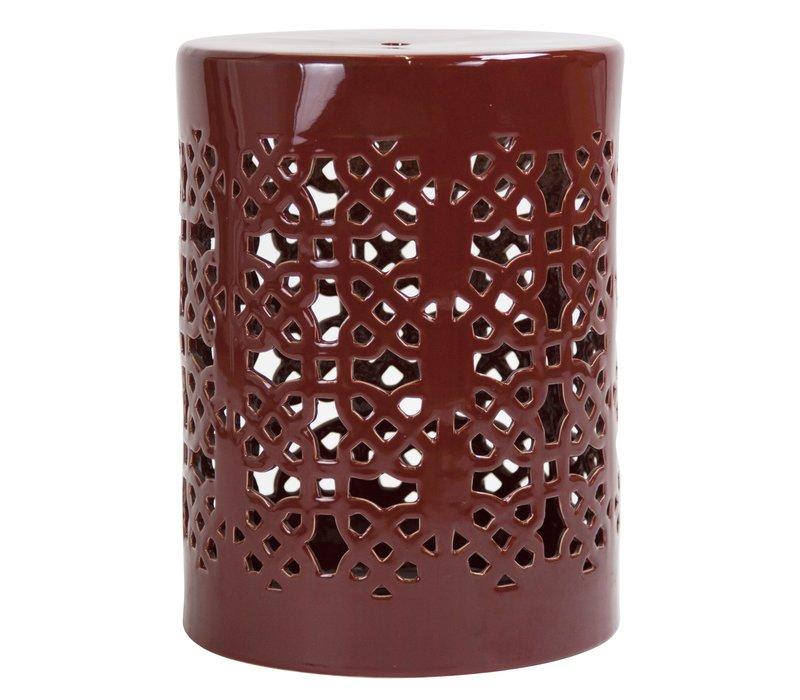 Ceramic Garden Stool D33xH46cm Porcelain Handmade A-290