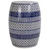 Fine Asianliving Keramik Hocker Gartenhocker Porzellan B-072