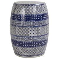Ceramic Garden Stool D33xH46cm Porcelain Handmade B-071