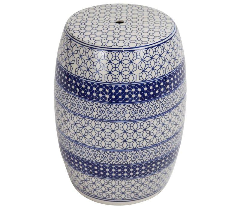 Ceramic Garden Stool Porcelain B-071