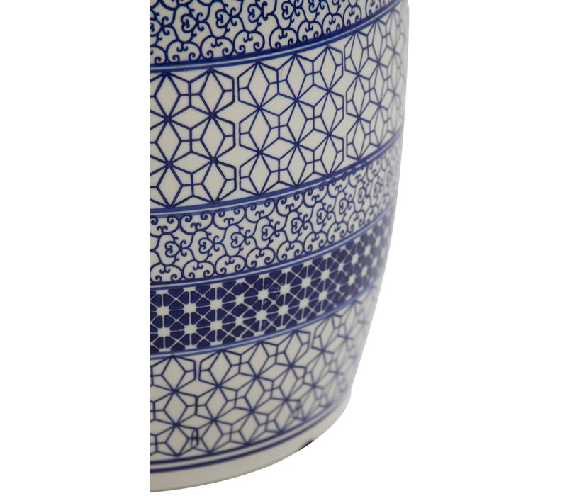 Keramik Hocker Gartenhocker Porzellan B-072