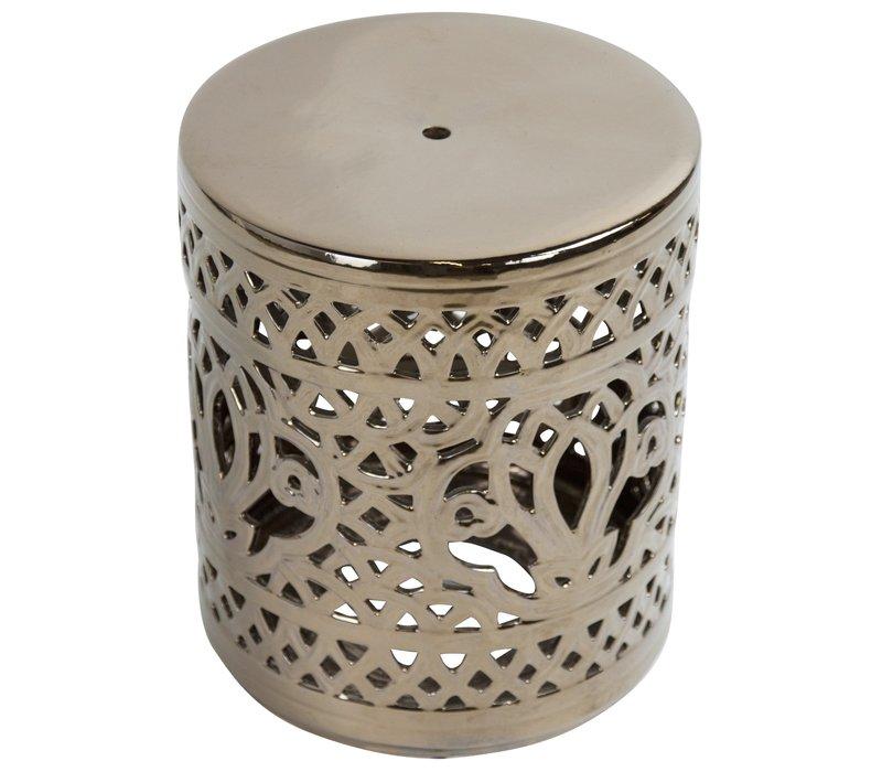 Tabouret en Céramique Chinois Porcelaine Fait Main D33xH46cm
