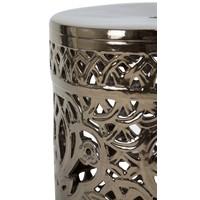 Ceramic Garden Stool D33xH46cm Porcelain Handmade A-288