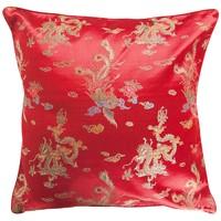 Chinesisches Kissen Rot Drache 40x40cm