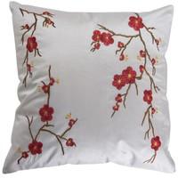 Chinesisches Kissenbezug Weiß Kirschblüten 40x40cm ohne Füllung