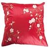 Fine Asianliving Housse de Coussin Chinoise Rouge Cerisier en Fleurs 40x40cm