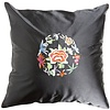 Fine Asianliving Fine Asianliving Chinese Cushion Black Flowers 40x40cm Zonder Cushion