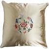 Fine Asianliving Fine Asianliving Decoratieve Kussen Chinese Bloemen Geborduurd Geel 40x40cm