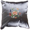 Fine Asianliving Chinese Cushion Grey Flowers 40x40cm