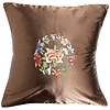 Fine Asianliving Chinese Cushion Brown Flowers 40x40cm
