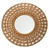 Fine Asianliving Round Wall Mirror Frame Handweaved Tapnigi D70x6cm Thick