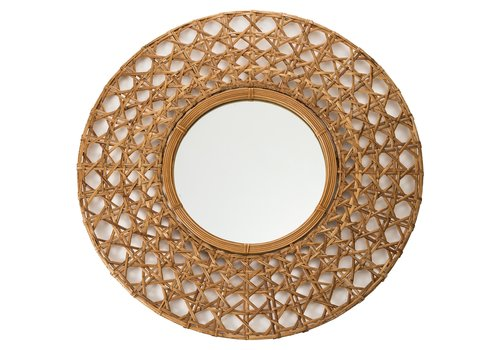 Fine Asianliving Mirror Frame Handweaved Tapnigi D70x6cm Thick