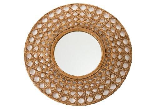Fine Asianliving Round Wall Mirror Frame Handweaved Tapnigi D70x6cm
