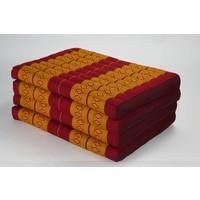 Thai Cushion Matress 4-folded 80x200cm Mat Cushion XXXL Thai Orange