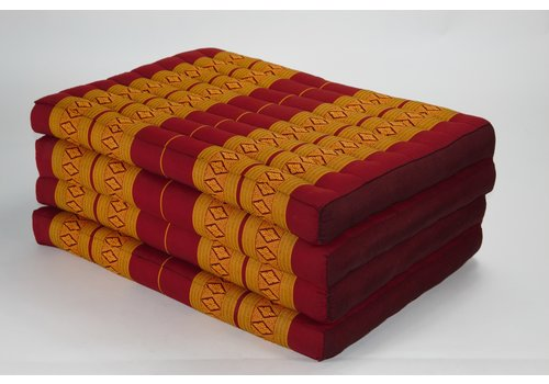Fine Asianliving Thai Cushion Matress 4-folded 80x200cm Mat Cushion XXXL Thai Orange