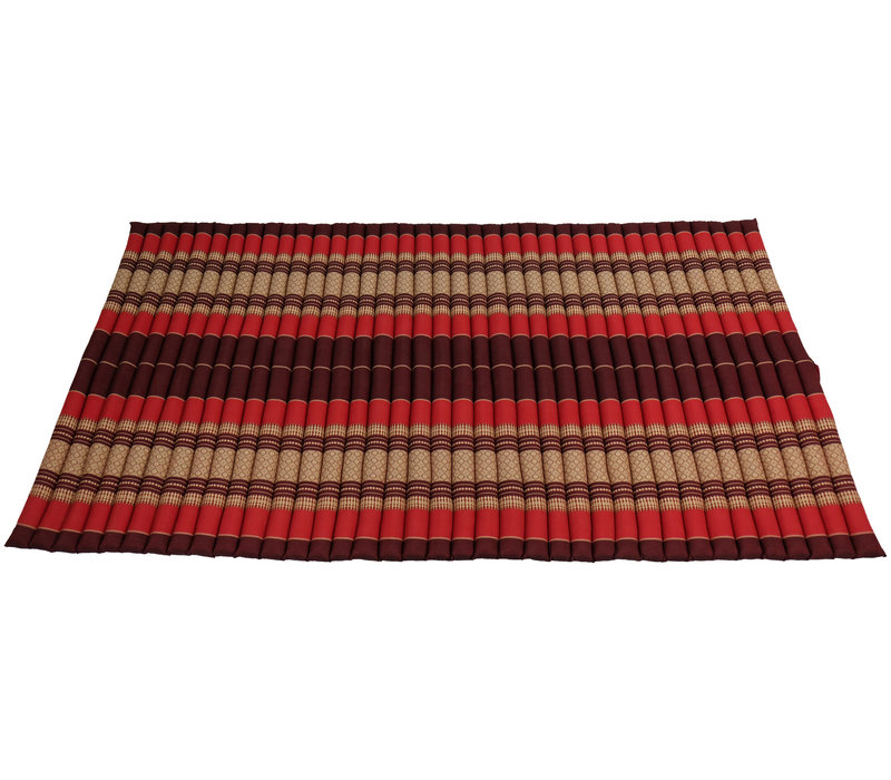 Thai Mat Rollable Matress 200x100x4.5cm Bordeaux Red