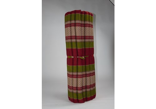 Fine Asianliving Thai Mat Rollable Matress 200x100x4.5cm Burgundy Green