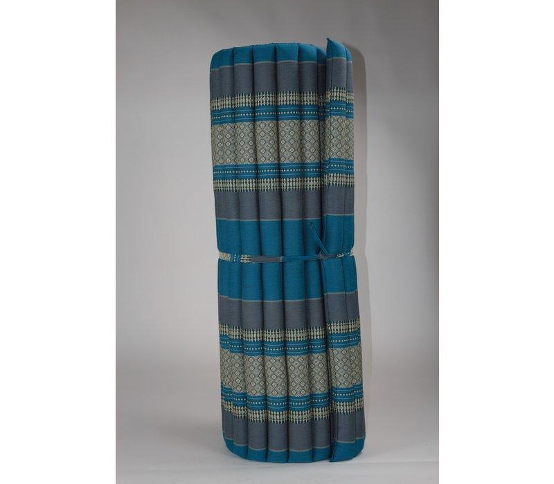 Colchón Tailandés Enrollable 200x100x4.5cm Azul Cielo