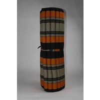 Thaimatte Rollbar Kapokfüllung 200x100x4.5cm Schwarz Orange