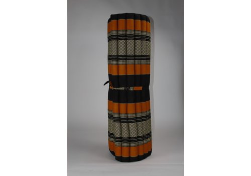 Fine Asianliving Thai Mat Rollable Matress 200x100x4.5cm Black Orange